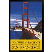 "Diamond Decor ""San Francisco Vintage Artwork"" Framed Poster"
