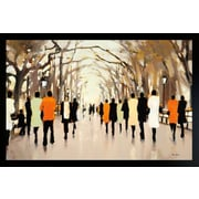 "Diamond Decor ""Poets Walk"" Framed Art Print Poster"