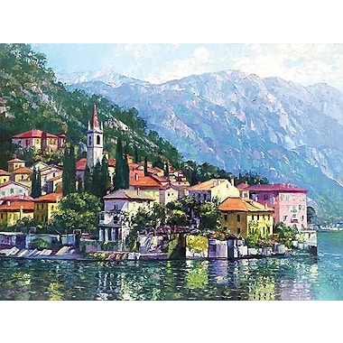 Printfinders Reflections of Lake Como by Howard Behrens Painting Print on Canvas; 18'' x 24''