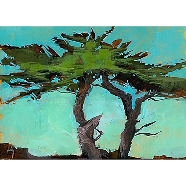 Printfinders Cypresses by Paul Bailey Painting Print on Canvas; 25'' x 35''