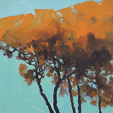 Printfinders Five Trees by Paul Bailey Painting Print on Canvas; 24'' x 24''