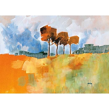 Printfinders Four Trees by Paul Bailey Painting Print on Canvas; 25'' x 35''