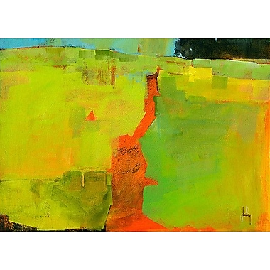 Printfinders Orange Path by Paul Bailey Painting Print on Canvas; 25'' x 35''