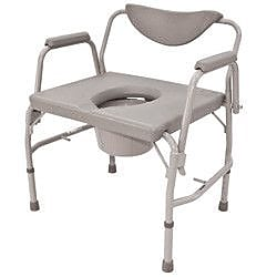Roscoe Medical Bariatric Drop-Arm Round Commode (Set