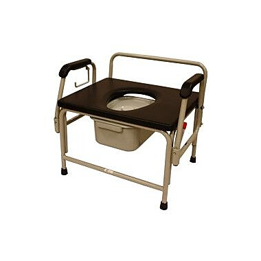 Roscoe Medical Bariatric Drop-Arm Round Commode