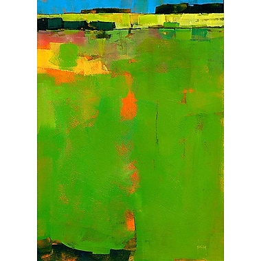 Printfinders Green Field by Paul Bailey Painting Print on Canvas; 35'' x 25''