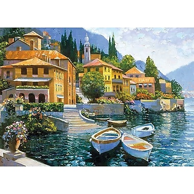 Printfinders Lake Como Landing by Howard Behrens Painting Print on Canvas; 25'' x 35''