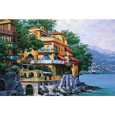 Printfinders Portofino Villa by Howard Behrens Painting Print on Canvas; 16'' x 24''