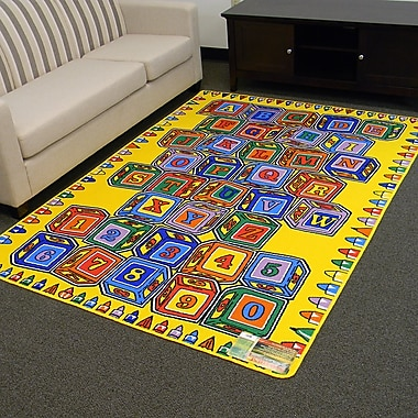 DonnieAnn Company Paradise Alphabets Stacking Block Indoor Area Rug