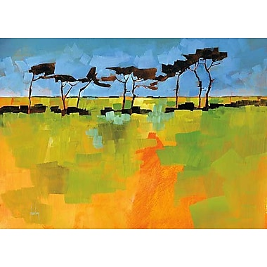 Printfinders Suffolk Scots by Lina Alattar Painting Print on Canvas; 30'' x 42''