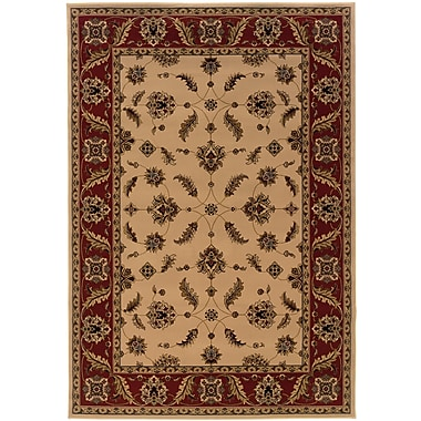 StyleHaven Oriental Ivory/ Red Indoor Machine-made Polypropylene Area Rug (6'7