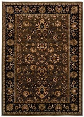 StyleHaven Oriental Brown/ Black Indoor Machine-made Polypropylene Area Rug (7'10