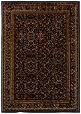 StyleHaven Oriental Black/ Red Indoor Machine-made Polypropylene Area Rug (7'10