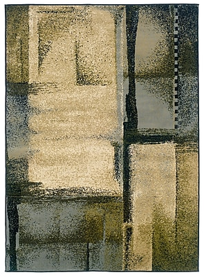 StyleHaven Abstract Beige/ Blue Indoor Machine-made Polypropylene Area Rug (3'3