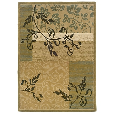 StyleHaven Floral Gold/ Green Indoor Machine-made Polypropylene Area Rug (7'10