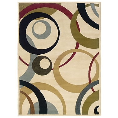 StyleHaven Geometric Ivory/ Beige Indoor Machine-made Polypropylene Area Rug (7'10
