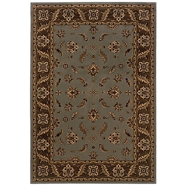 StyleHaven Oriental Blue/ Brown Indoor Machine-made Polypropylene Area Rug (5'3