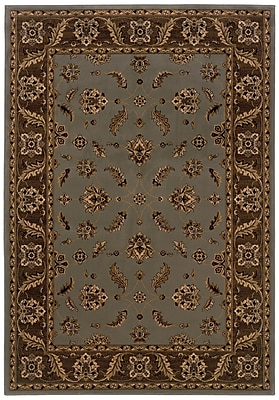 Oriental Blue/ Brown Indoor Machine-made Polypropylene Area Rug (3'10
