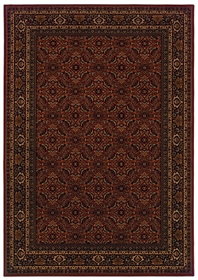 StyleHaven Oriental Red/ Black Indoor Machine-made Polypropylene Area Rug (3'10