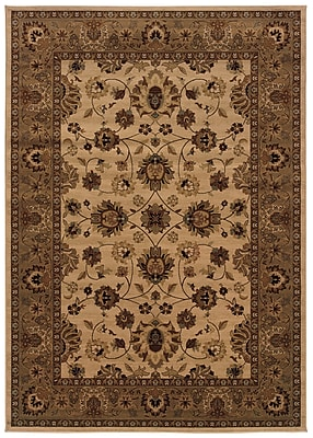 StyleHaven Oriental Ivory/ Blue Indoor Machine-made Polypropylene Area Rug (5'3