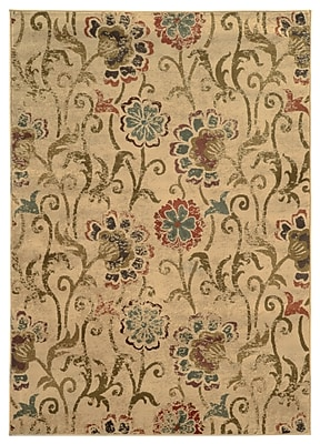 StyleHaven Floral Ivory/ Green Indoor Machine-made Polypropylene Area Rug (7'8