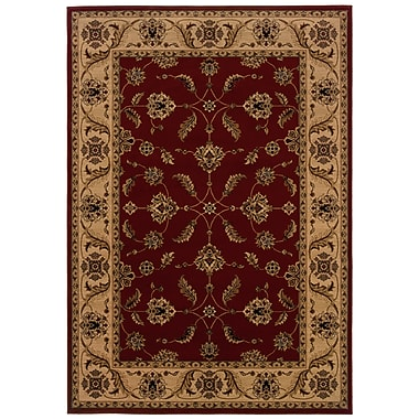 StyleHaven Oriental Red/ Ivory Indoor Machine-made Polypropylene Area Rug (5'3
