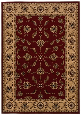 StyleHaven Oriental Red/ Ivory Indoor Machine-made Polypropylene Area Rug (7'10
