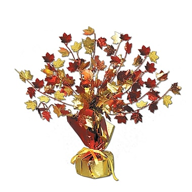 Centre de table Gleam 'N Burst feuilles d'automne, 15 po, paquet de 3