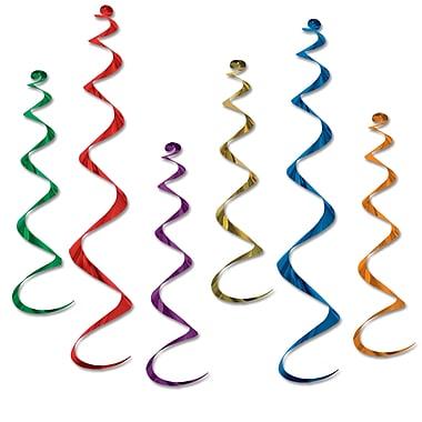 Déco en spirales, 24 po et 36 po, couleurs variées, 18/paquet