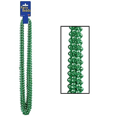 Party Beads, Small Round, 7mm x 33