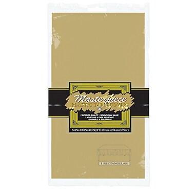 Nappe rectangulaire en plastique, 54 x 108 po, doré, paquet de 6