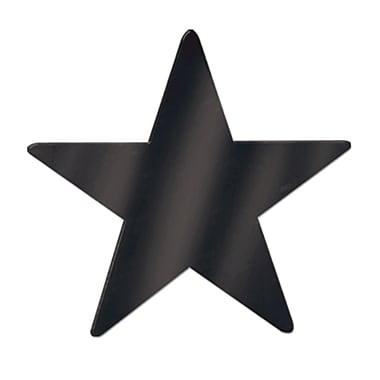 Découpe d'étoile géante en aluminium, 20 po, noir, paquet de 5