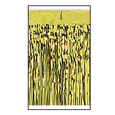 Draperie à franges métallisées 1 épaisseur ignifuge, 15 po x 10 pi, doré, 2/paquet