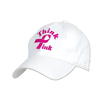 Chapeau Think PinkMD en relief brodé, taille unique, 2/paquet