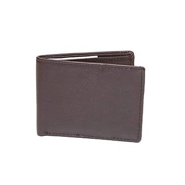 Ashlin® Alvin Slimfold Men's Wallet, Dark Brown