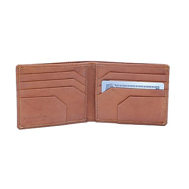 Ashlin Alvin Slimfold Men's Wallet, British Tan