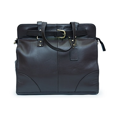 Ashlin® Catraoione Ladies Double Handle Leather Euro Bag, Black