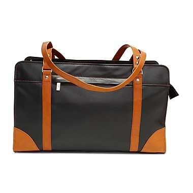 Ashlin Carlton Leather Carry All Business Case, Color Blocking