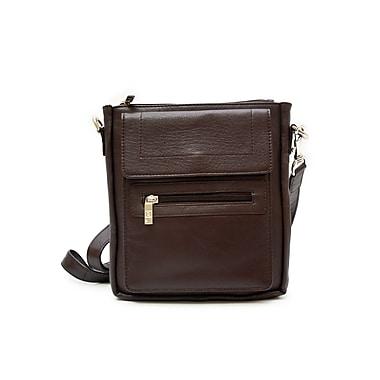 Ashlin® Taysha Classic Crossbody Bag, Dark Brown