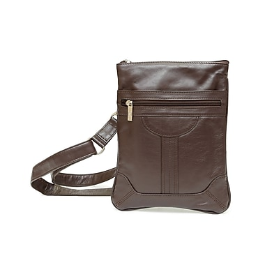 Ashlin® Dorothy Classic Slim Cross Body Bag, Dark Brown