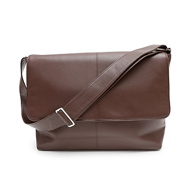 Ashlin® Rikar Messenger Bag, Dark Brown