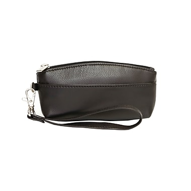 Ashlin® Genesia Soft Sided Wristlet with Side Strap, Black