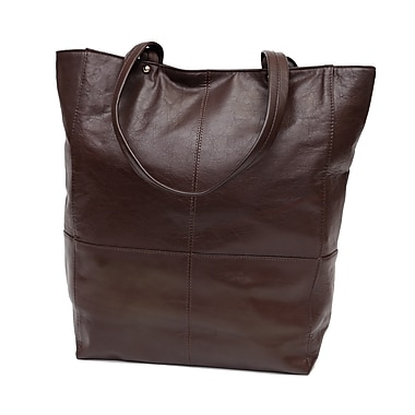 Ashlin® Grand sac fourre-tout Gianina pour femme, brun foncé