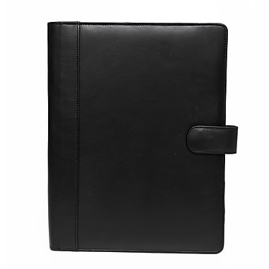 Ashlin Bernadino Writing Case, Bi-Fold with Full Sized Notepad, Black