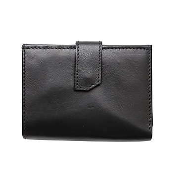 Ashlin® Ernesta Ladies' Wallet, Multi Section Wallet, Black