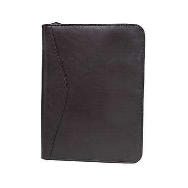 Ashlin® Copperfield Zippered Portfolio. Inside Gusseted Pocket. Holds 8.5 x 11 Inches, Black