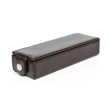 Ashlin® Faenza Double Pen Box, Dark Brown