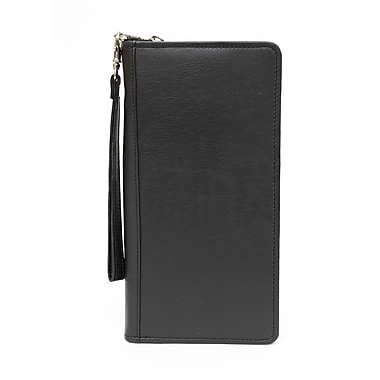Ashlin® Monaco Rfid Zippered Ticket Wallet, Black