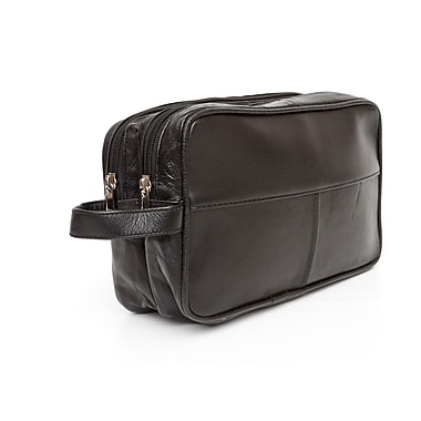 Ashlin® Trinity Unisex Toiletry Bag, Black