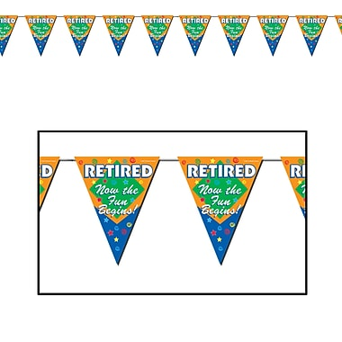 Retired The Fun Begins! Pennant Banner, 10